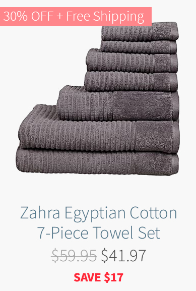 Zahra Egyptian Cotton 7-Piece Towel Set