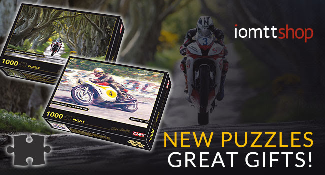 Michael Dunlop and                                                 Mike Hailwood 1000 piece                                                 jigsaw puzzles
