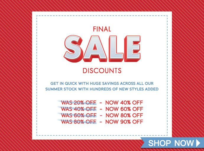 Further discount up to 40%-90% off final sale at Zodee.