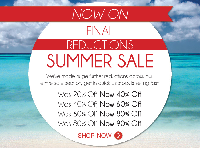 Final reductions 40-90% off summer sale at Zodee.com.au